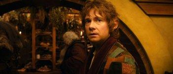 Un intenso primo piano di Martin Freeman, alias Bilbo Baggins, in Lo Hobbit - Un viaggio inaspettato