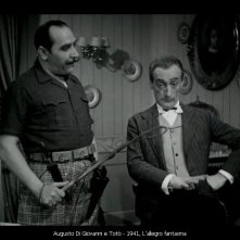 Augusto Di Giovanni e Totò in L'allegro Fantasma 1941