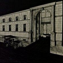 Il Commissario Nardone - Bozzetto scenografia Facciata questura di Milano firmata da Giuseppe Pirrotta