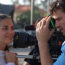 Lavinia Guglielman con Giulio Berruti sul set di Deadly Kitesurf