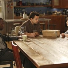 New Girl: Lamorne Morris, Jake Johnson e Zooey Deschanel nell'episodio Neighbors