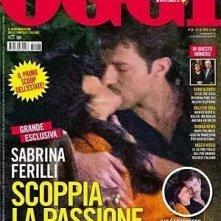 Sabrina Ferilli sulla cover di OGGI (settembre 2012) con Francesco Testi