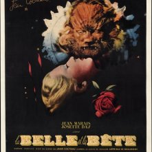 Una splendida locandina del film La Bella e la Bestia (1946)
