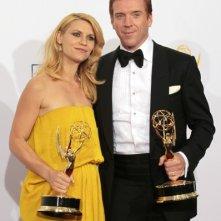 Homeland: gli interpreti Claire Danes e Damian Lewis premiati agli Emmy 2012