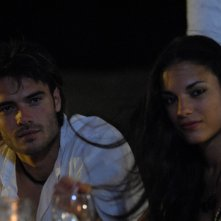 Giulio Berruti e Lavinia Guglielman sul set di Deadly Kitesurf