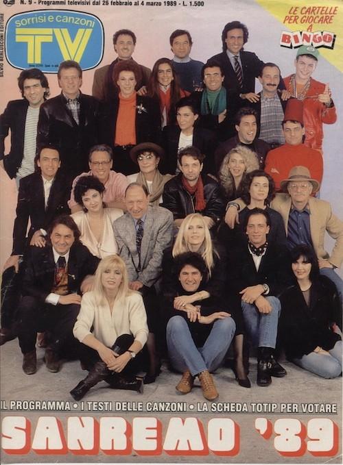 Festival Di Sanremo 1989 In Cover Su Tv Sorrisi E Canzoni 252468