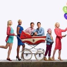 Il cast di the New Normal in una foto promozionale