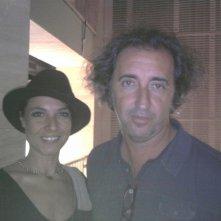 LORENZA CAROLEO con il regista PAOLO SORRENTINO sul set del film La Grande Bellezza.