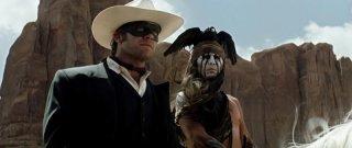 The Lone Ranger: un primo piano dei compari Johnny Depp ed Armie Hammer