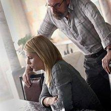 Claire Danes con Mandy Patinkin nella seconda stagione di Homeland