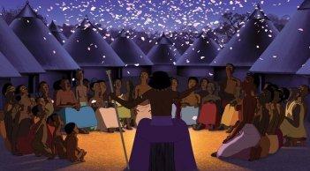 Kirikou et les hommes et les femmes, una scena del film