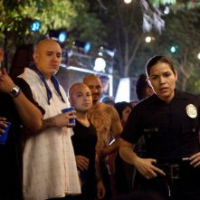 End of Watch - Tolleranza zero: America Ferrera in una scena del film nei panni dell'agente Orozco