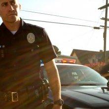 Jake Gyllenhaal e Michael Pena in una scena dell'action End of Watch - Tolleranza zero