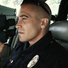 Jake Gyllenhaal in un'immagine tratta dall'action End of Watch - Tolleranza zero