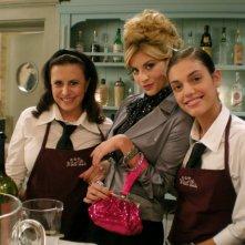 Micol Azzurro, Daniela Terreri e Margherita Vicario sul set de La Ladra