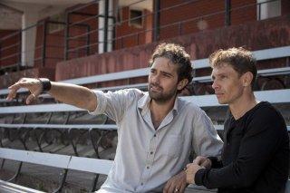 Nottetempo: il regista Francesco Prisco con Giorgio Pasotti sul set