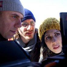 Tutti i santi giorni: il regista Paolo Virzì sul set del film insieme ai protagonisti Thony e Luca Marinelli