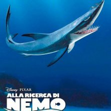 Alla ricerca di Nemo in 3D: il character poster italiano della verdesca di nome Fiocco