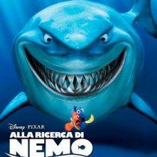 Alla ricerca di Nemo in 3D: il character poster italiano dello squalo bianco Bruto