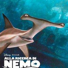 Alla ricerca di Nemo in 3D: il character poster italiano dello squalo martello Randa