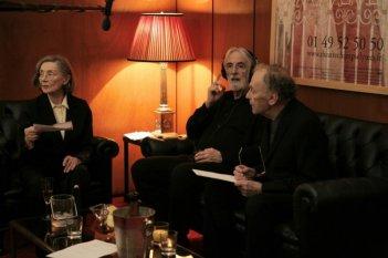 Amour: il regista Michael Haneke con Emmanuelle Riva e Jean-Louis Trintignant sul set del film