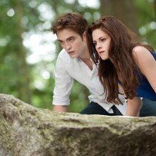 Robert Pattinson e Kristen Stewart in azione in The Twilight Saga: Breaking Dawn - Parte 2