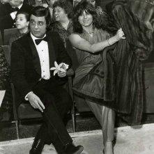 Sanremo 1980: Marina Occhiena seduta tra il pubblico - la cantante è appena stata esclusa dal suo gruppo i Ricchi e Poveri, che gareggiano