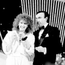 Sanremo 84: Pippo Baudo con Fiorella Mannoia