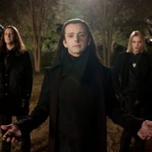 Twilight Saga: Breaking Dawn - Parte 2, Christopher Heyerdahl, Michael Sheen e Jamie Campbell Bower in una scena