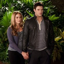 Twilight Saga: Breaking Dawn - Parte 2, Nikki Reed e Kellan Lutz in una scena