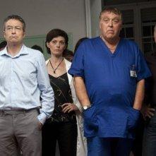 Viva l'Italia: Maurizio Mattioli in una scena del film con Sergio Fiorentini