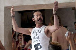Viva l'Italia: un brioso Rocco Papaleo in una scena del film