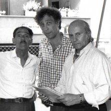 Complimenti che carattere: Francesco Barnabei sul set con Tiberio Murgia e Cesare Ferzi