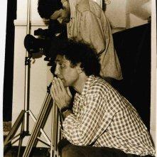 Francesco Barnabei sul set del film documentario, Complimenti che carattere!