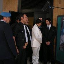 Cugino e cugino: Massimo Corvo, Giorgio Borghetti, Gennaro Cannavacciuolo, M.Hernando Bruno, Gabriele De Luca sul set