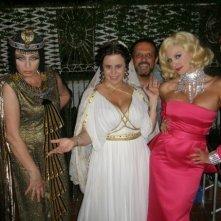 Daniela Terreri, Francesco Vicario, Micol Azzurro, Lia Tanzi sul set de La ladra