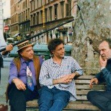Francesco Barnabei sul set del film documentario Complimenti che carattere, con Gianni Musy e Francesco Gabriele