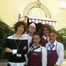 Veronica Pivetti, Daniela Terreri, Maggie Vicario, Gabriele De Luca sul set de La ladra