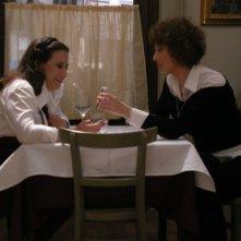 Veronica Pivetti e Daniela Terreri sul set de La Ladra