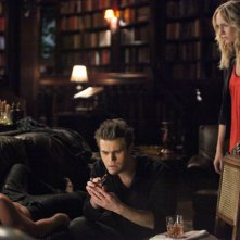 The Vampire Diaries: Paul Wesley e Candice Accola nell'episodio Memorial