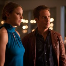 Abbie Cornish e Sam Rockwell in una scena di 7 psicopatici