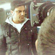 Salvatore Ruocco sul set di 'Ciro' corto diretto da Sergio Panariello presentato al Festival di Roma 2012.