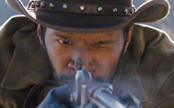 Jamie Foxx nei panni di Django in una scena di Django Unchained