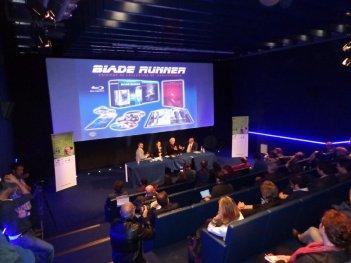 Un momento della presentazione del Blu-Ray del trentennale di Blade Runner nel corso della manifestazione I've Seen Films