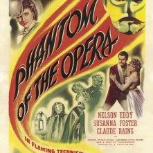 Una locandina inglese del film Il Fantasma dell\'Opera (1943)