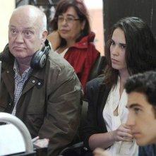 Celia Freijeiro con Josè Luis Cuerda sul set di Todo es silencio