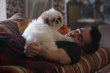 7 psicopatici: Colin Farrell con Bonny in una simpatica scena del film