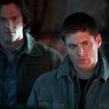 Jensen Ackles e Jared Padalecki in una scena dell'episodio All Dogs Go to Heaven della sesta stagione di Supernatural
