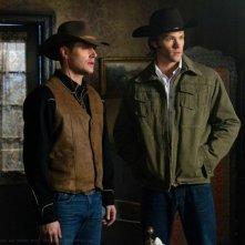 Jensen Ackles e Jared Padalecki in una scena dell'episodio Frontierland della sesta stagione di Supernatural