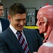Jensen Ackles e Jared Padalecki in una scena dell'episodio Mannequin: La resa dei conti della sesta stagione di Supernatural